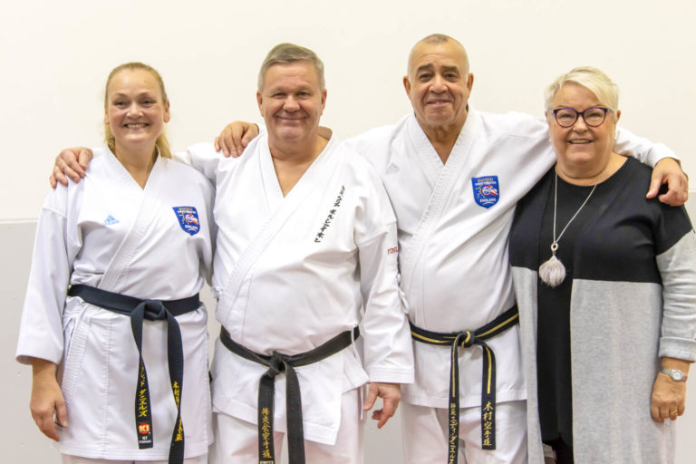 Sensei Solfrid, Shihan George, Shihan Eddie and Satu, December 2019 Finland